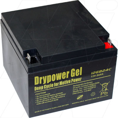 DRYPOWER 12V 24AH 12GB24C SEALED LEAD ACID GEL BATTERY