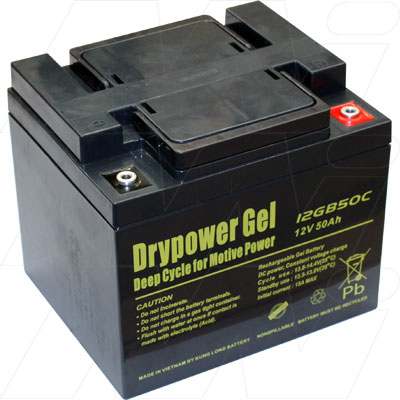 DRYPOWER 12V 50AH 12GB50C SEALED LEAD ACID GEL BATTERY