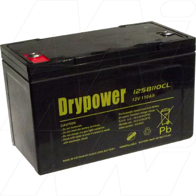 Drypower  I2SB110CL 12V 110Ah Sealed Lead Acid Battery