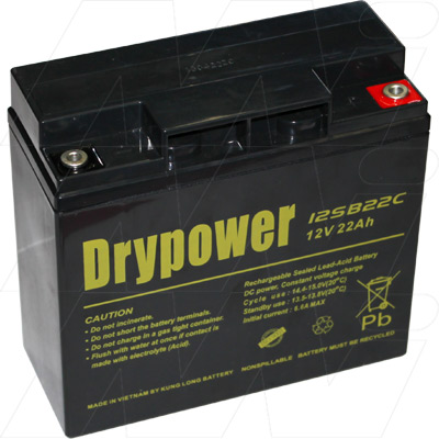 Drypower 12SB22C  12V 22Ah Sealed Lead Acid Battery