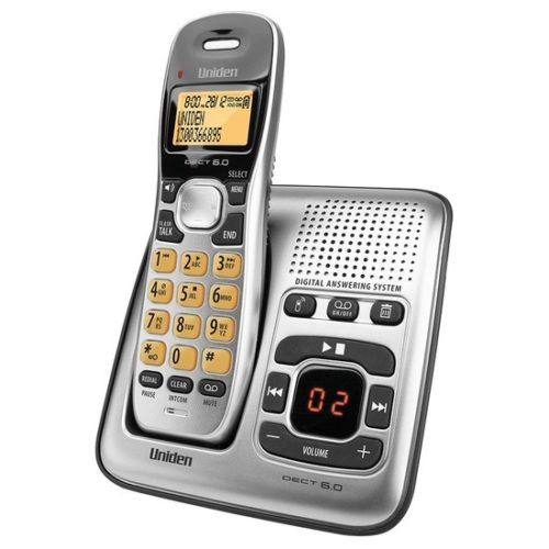 Uniden DECT1735 Single Handset Cordless Home Phone with Answerin