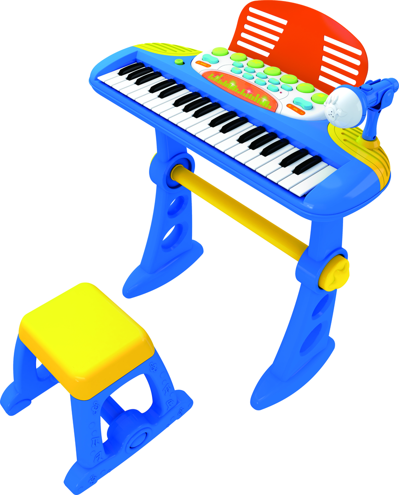 ELECTRONIC MUSICAL KEYBOARD PIANO BLUE FOR KIDS