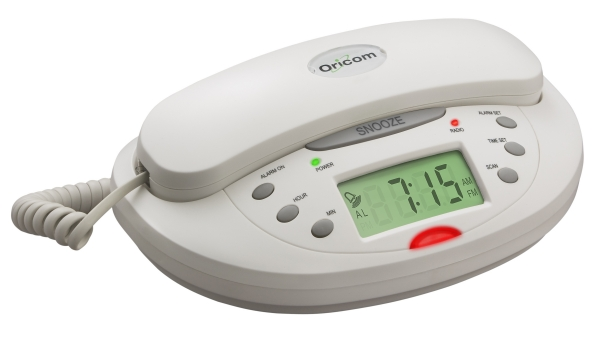 ORICOM CLOCK RADIO WHITE TELEPHONE TCR10
