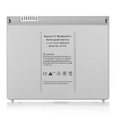 APPLE MACBOOK PRO A1175 A1150 MA348 REPLACEMENT BATTERY