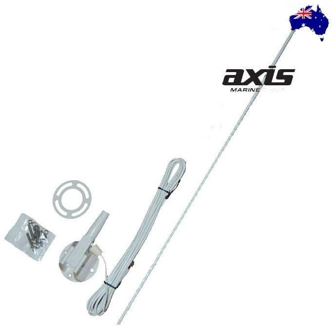 AXIS 27MHZ AM MARINE RUGGED WHITE WHIP ANTENNA 1 METRE BASE INC