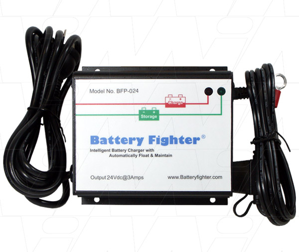 BATTERY FIGHTER 24V 3AMP FULLY AUTO LEAD ACID BATTERY CHARGER