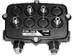 DIGIMATCH 17MM-C426 TAP CATV 1Ghz 4 WAY