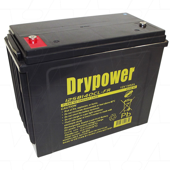 DRYPOWER 12SB140CL-FR 12V SEALED LEAD ACID BATTERY