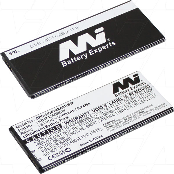 HUAWEI CPB-HB4742A0RBW-BP1 REPLACEMENT MOBILE PHONE BATTERY