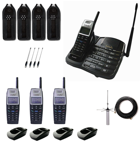 ENGENIUS FREESTYLE 1 QUAD 4 HANDSET CORDLESS PHONE PACK