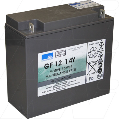SONNENSHEIN GOLF BUGY GF12014YF 12V 15Ah SEALED LEAD ACID BATT