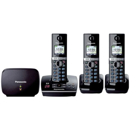 PANASONIC KX-TG8033ALB DECT DIGITAL CORDLESS PHONE 3 HANDSETS