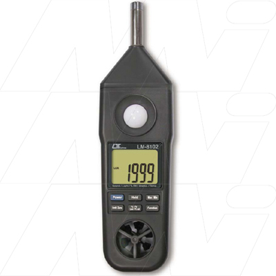 Anemometer Humidity meter Light Meter