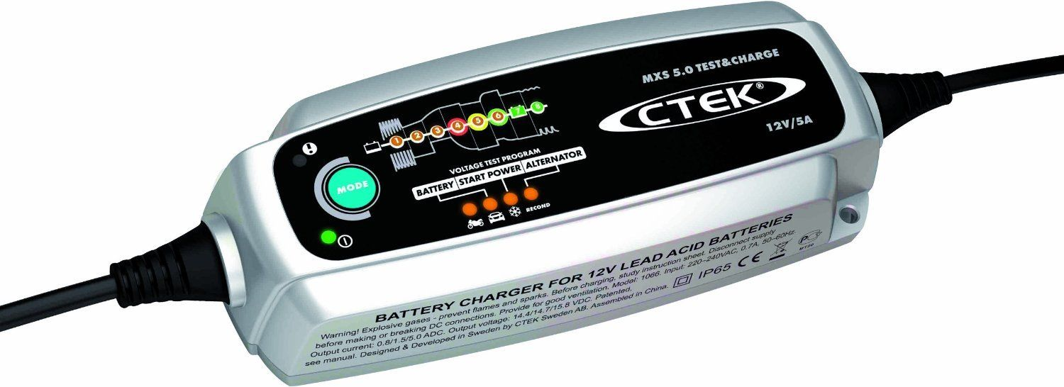 CTEK MXS 5.0 TEST AND CHARGE BATTERY CHARGER 12 VOLT 5A 5 AMP
