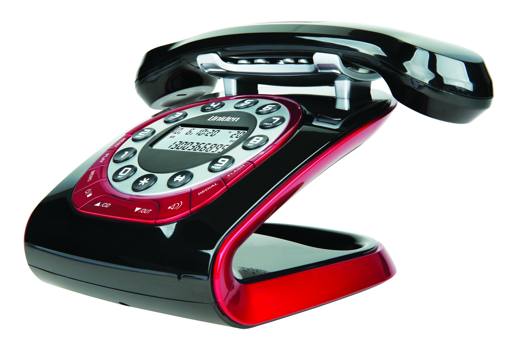 UNIDEN MODRO 35 BLACK RETRO STYLE CORDLESS PHONE FREE SHIPPING