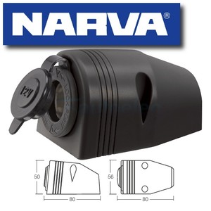 NARVA 81025BL CIGARETTE LIGHTER SOCKET MOUNT 12V DC ADAPTER