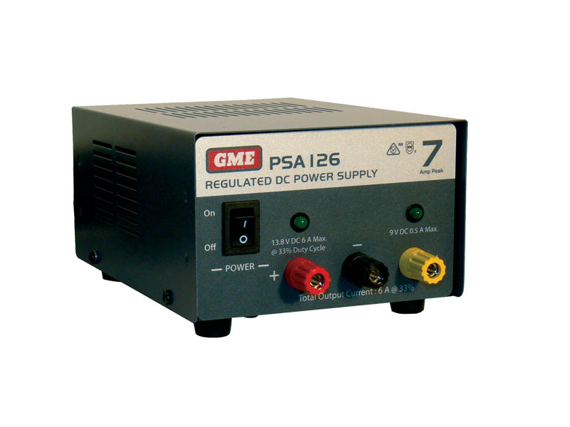 GME PSA126 7AMP DUAL VOLTAGE POWER SUPPLY
