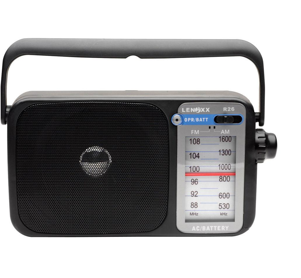 LENOXX R26 AM/FM RADIO BLACK WITH EARPHONE SOCKET