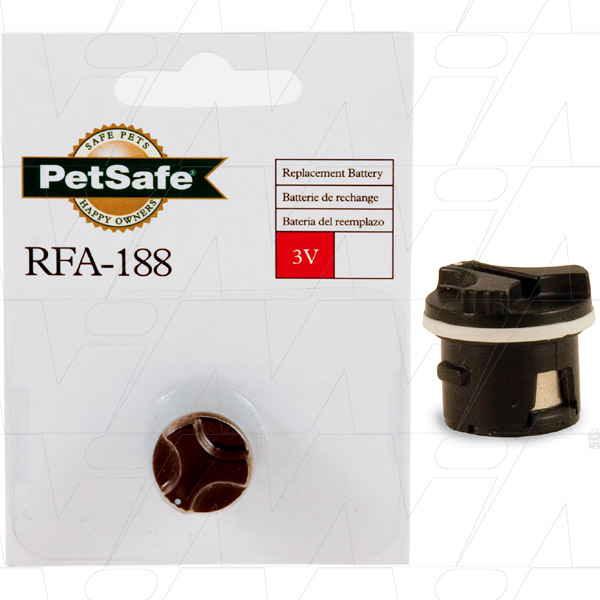 Dog Collar Bark Control Battery  	RFA-188