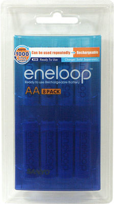 SANYO 2000MAH AA NIMH RECHARGEABLE 8 PACK BATTERY