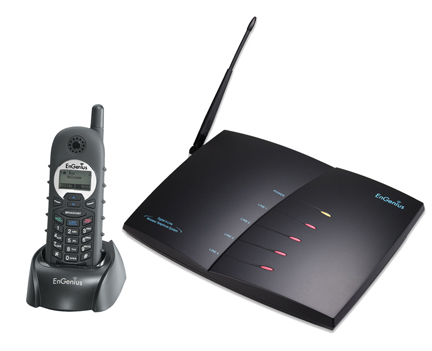ENGENIUS SP9228 PRO 4 LINE PHONE AND BASE SYSTEM