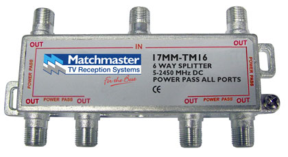 DIGIMATCH 17MM-TM16 POWER DIVIDER SATELLITE 6 WAY