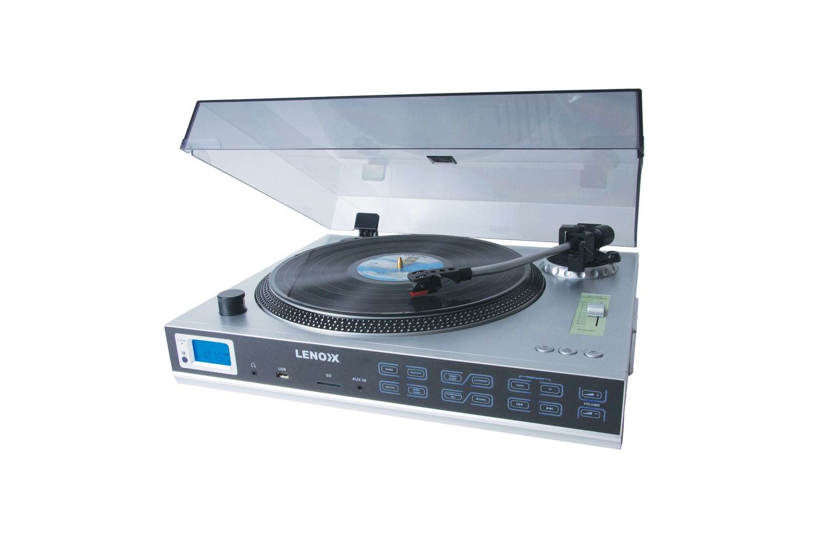 LENOXX TT650 HQ TURNTABLE RECORD PLAYER FM/AM TUNER MP3 USB SD