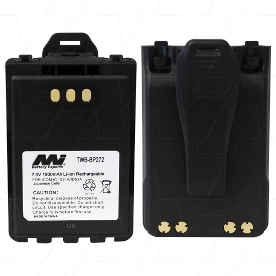 ICOM TWB-BP272 TWO-WAY RADIO BATTERY