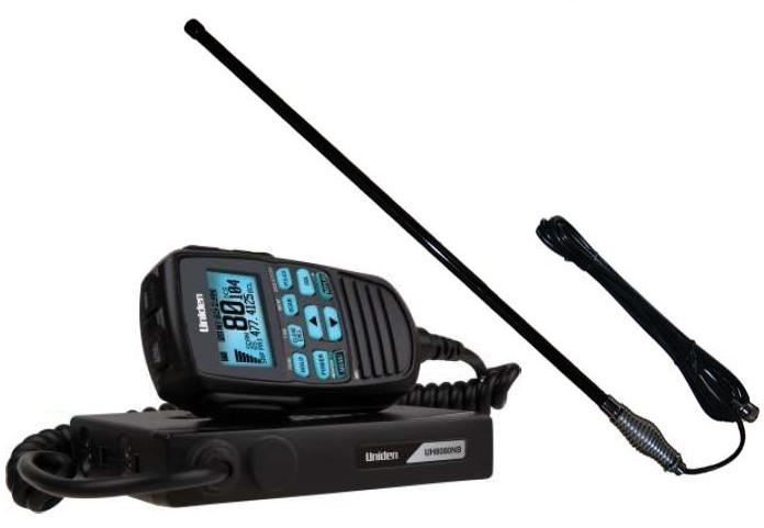 UNIDEN UH8080S 80 CHANNEL UHF+SCANNER+CH5T BLACK 5DB ANTENNA PK