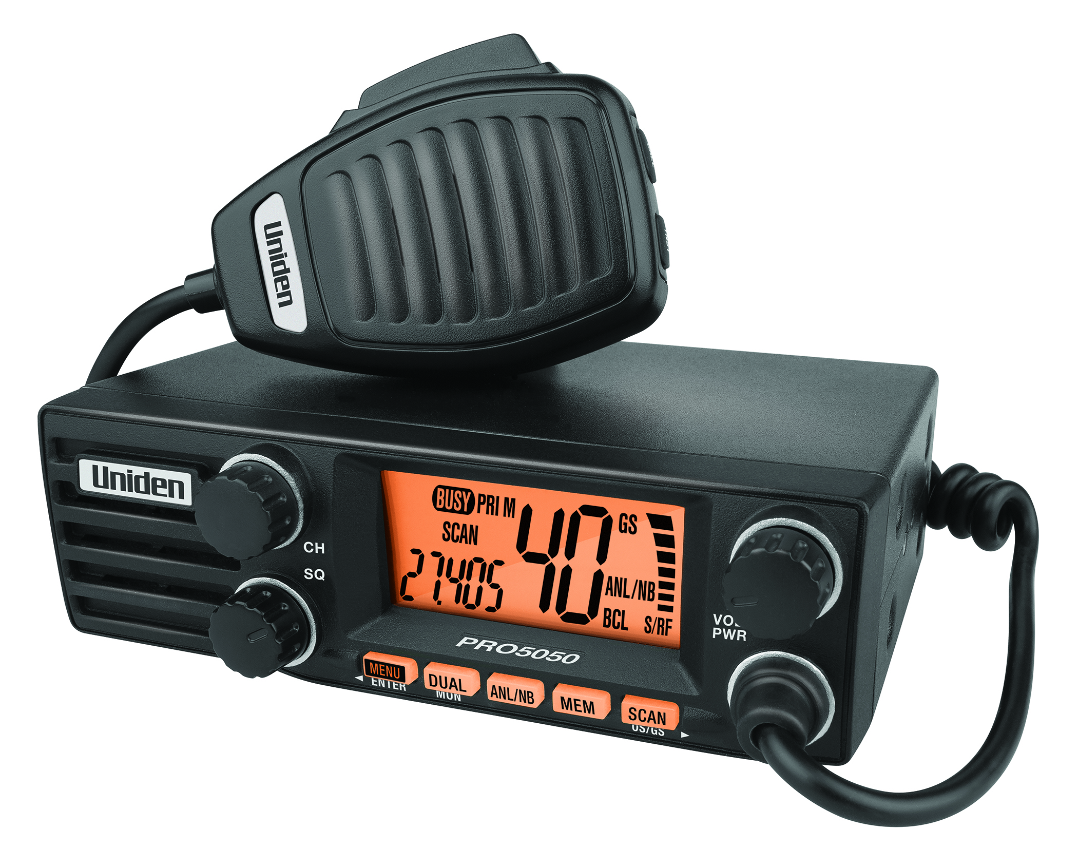 Uniden PRO 5050 12/24V 40CH 27MHz AM CB DIN RADIO Large LCD Disp