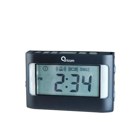 ORICOM VAC500 PORTABLE VIBRATING ALARM CLOCK FOR HEAVY SLEEPERS
