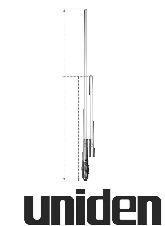 UNIDEN AT970WH TWIN UHF CB ANTENNA WHITE 6.6DBI 3DBI PACK