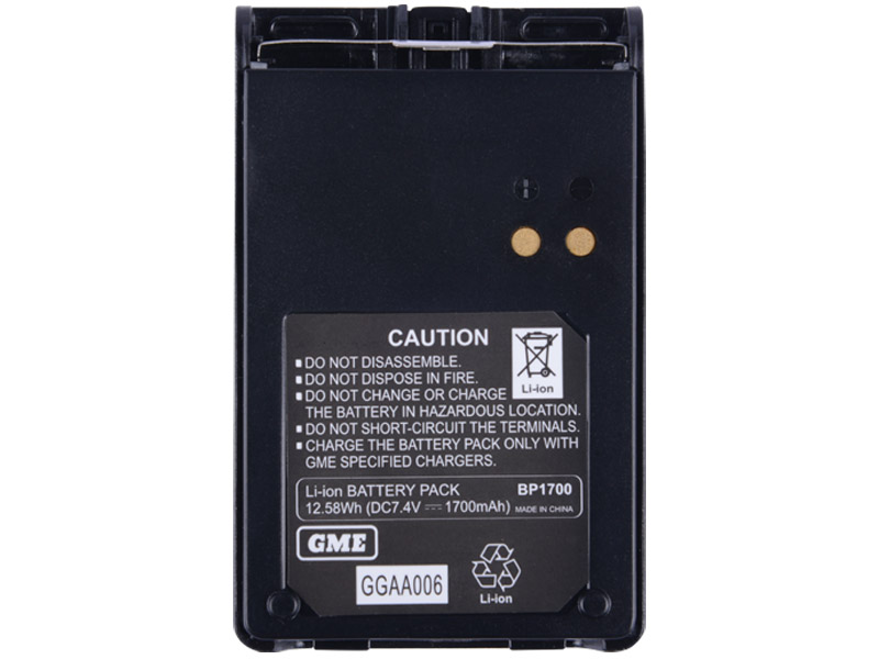 GME BP1700 TX6100 TX680 GENUINE UHF RADIO SPARE BATTERY