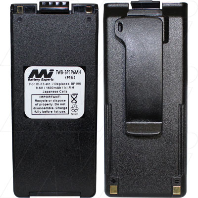 ICOM 40S BP196 NIMH  AFTERMARKET UHF RADIO BATTERY
