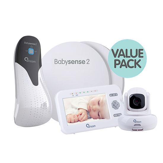 ORICOM SECURE 850 VIDEO MONITOR+BABYSENSE2 RESPIRATORY PACK