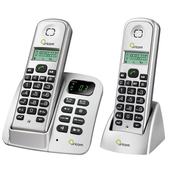 ORICOM eco700-2 DECT Digital Cordless Phone Twin Pack with answe