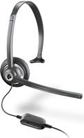 PLANTRONICS CORDED HEADSET WITH VOLUME CONTROL FOR PHONES M214C