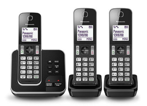 Panasonic KX-TGD323ALB Triple Cordless Phone System with Answeri