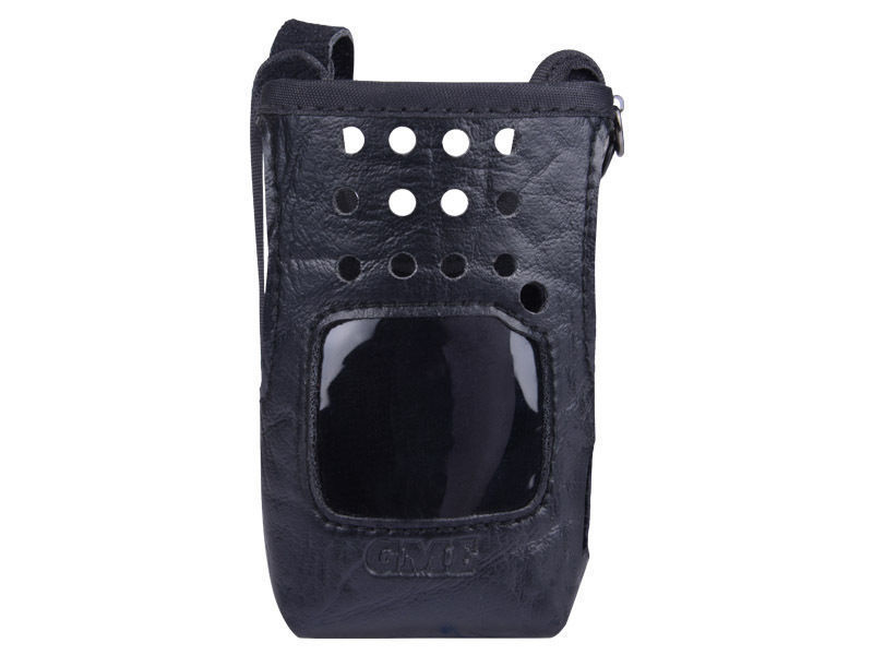 Gme lc008 Leather carry case suits tx665 tx675 radios handheld