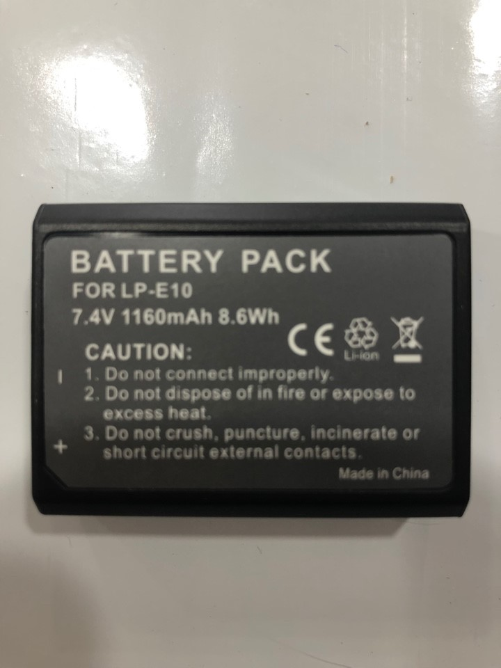 CANON EOS 1100D LPE10  LP-E10 DIGITAL CAMERA REPLACEMENT BATTERY