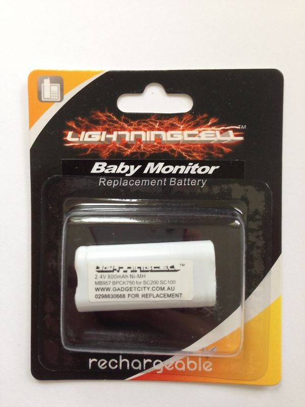 ORICOM MB957 SECURE 100 200 BABY MONITOR BATTERY ECO85