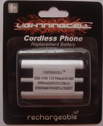 PANASONIC CORDLESS PHONE BATTERY HHR-P104 HHR-P104A
