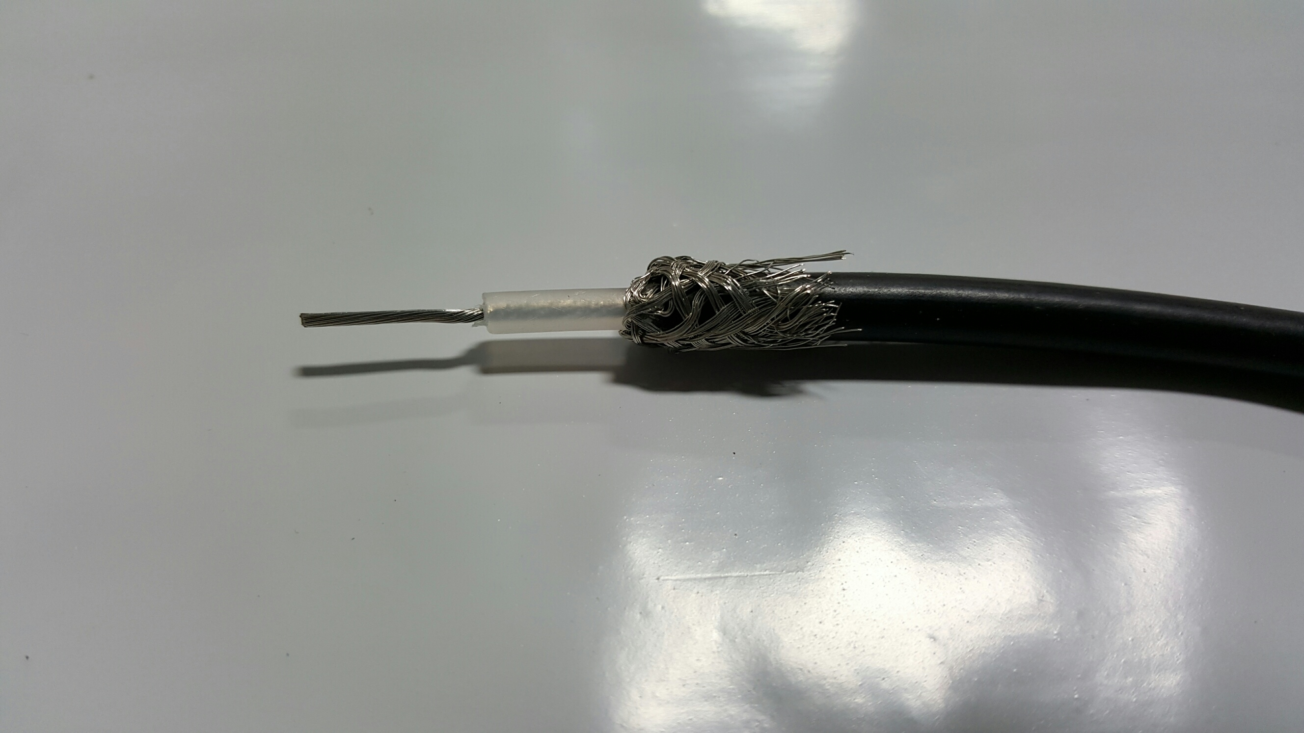 How to strip back a uhf cable to connect a pl259 connector