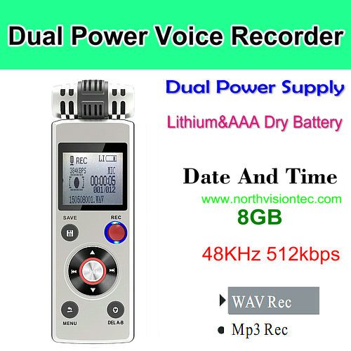 LIGHTNINGCELL DIGITAL VOICE RECORDER 8GB RECHARGEABLE PLAYBACK