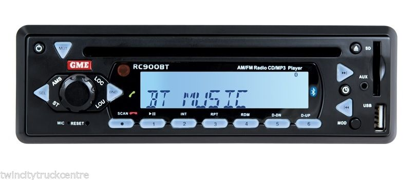 GME RC900BT AM/FM RADIO CD/MP3 PLAYER WITH B'TOOTH IPOD CONNECT