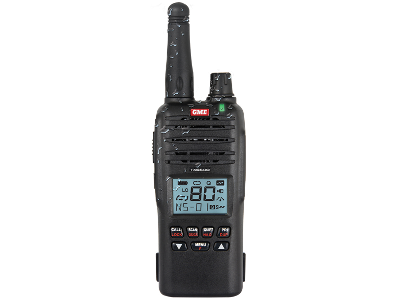 Gme TX6500S 80CH UHF RADIO  Water Dust Proof 5w IP67 HANDHELD